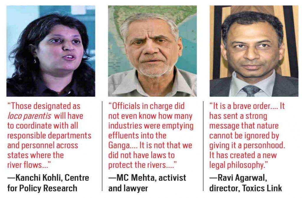 (L-R) kanchi Kohli; MC Mehta; Ravi Agarwal