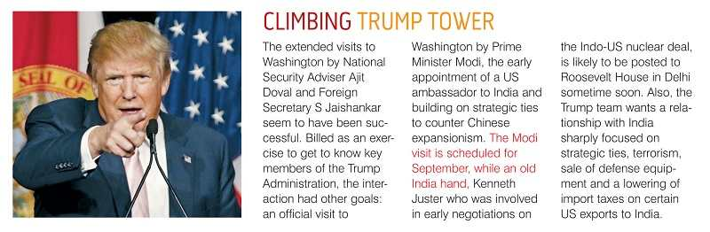 The grab of the news item which predicted that Kenneth Juster will be the next US ambassador to India