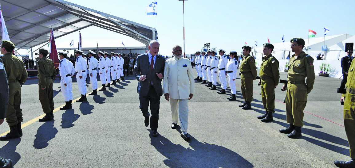 Prime Minister Narendra Modi with Israeli counterpart Benjamin Netanyahu during his visit to Israel