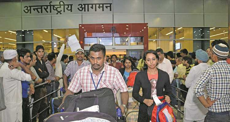 IGI Airport in Delhi handles 62 million passengers every year, and the new airport will take off much of the load. Photo: UNI
