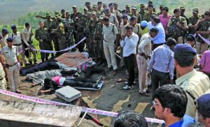 The MP chief minister praised the police before ordering a judicial commission to probe the gunning down of eight undertrials by the police hours after their alleged escape from Bhopal central jail. Photo: UNI