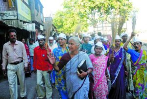 Medha Patkar has been asking for the Justice SS Jha Commission report to be made public. Photo: UNI