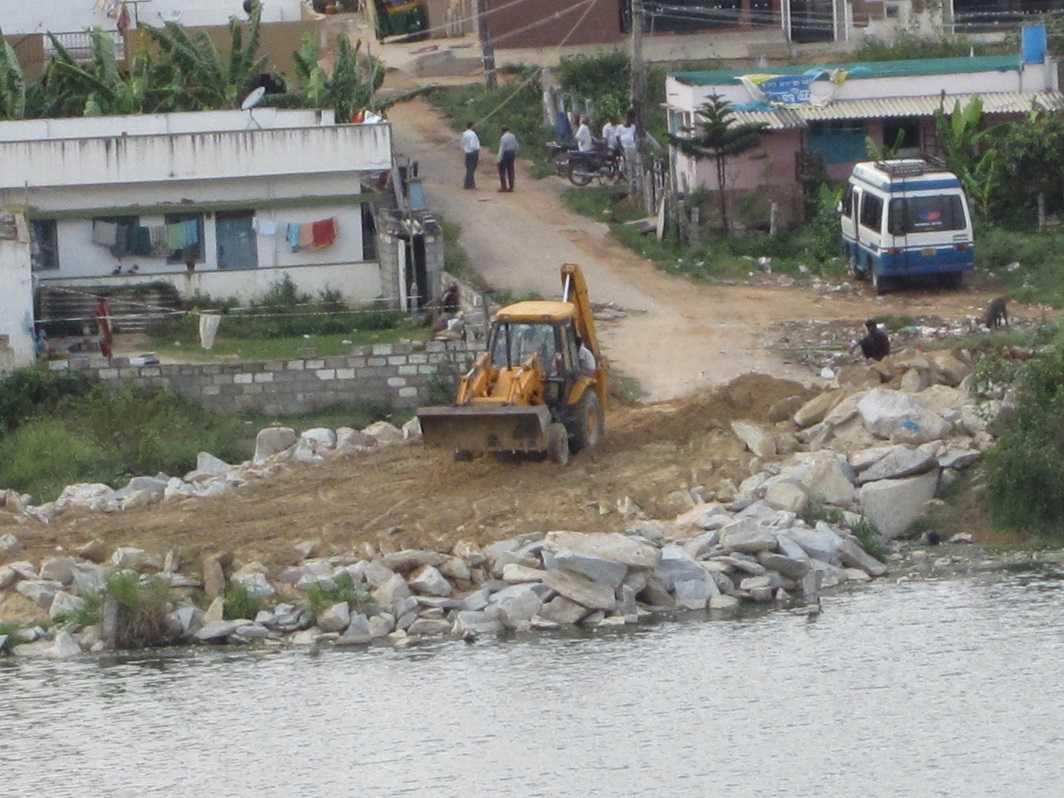Lake encroachment is rampant in Bengaluru. Photo: www.Indiawaterportal.org