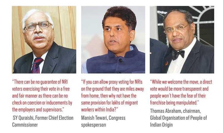 (L-R) SY Quraishi; Manish Tiwari; Thomas Abraham