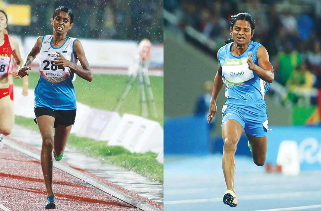 Athlete PU Chitra (left) and ace sprinter, Dutee Chand, were disallowed at different times from competing on important international platforms. Photo: Wikimedia.com and UNI