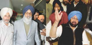 Parkash Singh Badal and Capt Amarinder Singh have been rather soft on each other in corruption cases. Photo: UNI