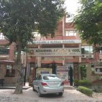 Above: The Adharsheela Global School in Ghaziabad, which had sent an offer letter to Meeta Arora.