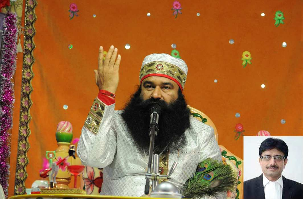 Dera Sacha Sauda supremo Gurmeet Ram Rahim Singh, (inset) The CBI court judge Jagdeep Singh who convicted him