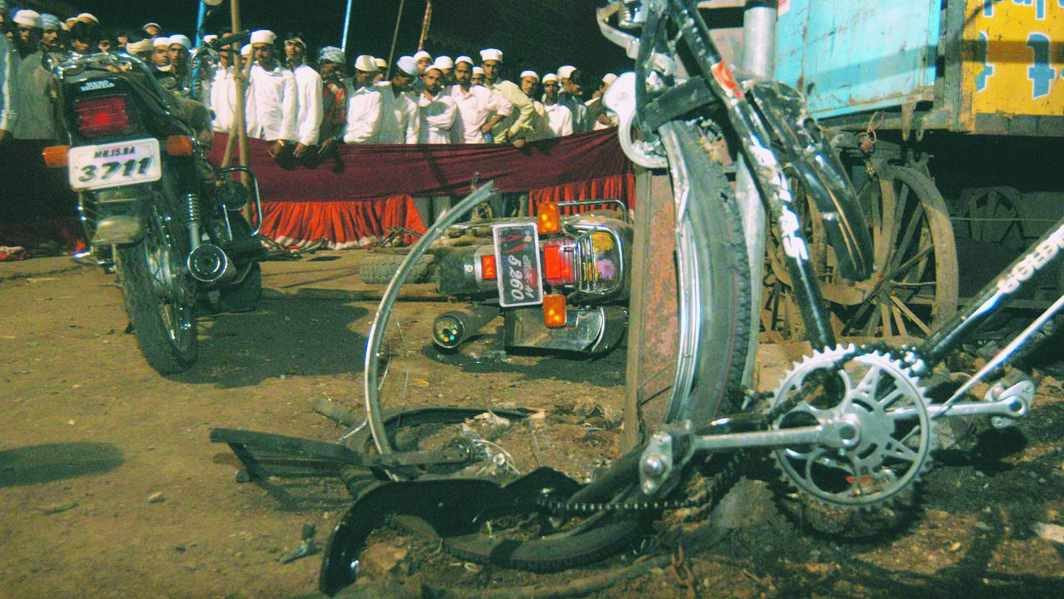 On September 29, 2008, a bomb concealed in a motorcycle went off in Malegaon, in a Muslim-dominated area in Maharashtra. Photo: YouTube