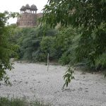 The Purana Qila lake has now completely dried up. Photo: Anil Shakya