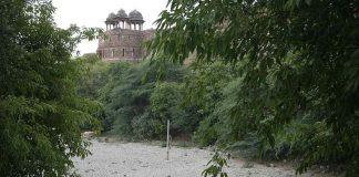 The Purana Qila lake has now completely dried up. Photo: Anil Shakya