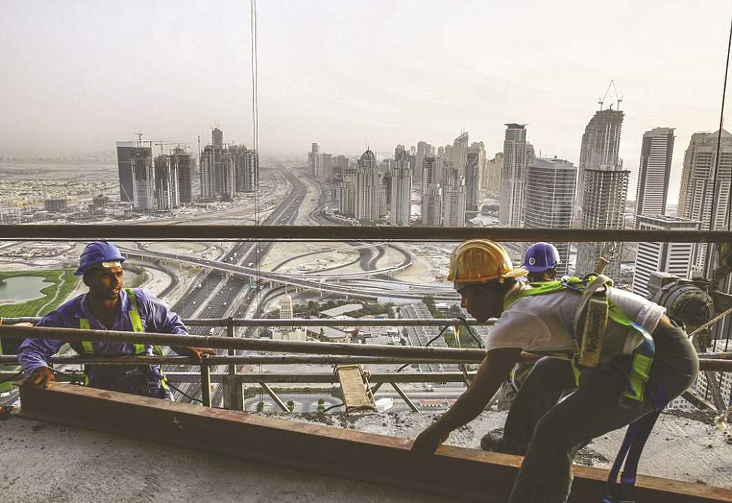 A large number of Indians seek employment in the construction sector in the Middle East. Photo: Facebook