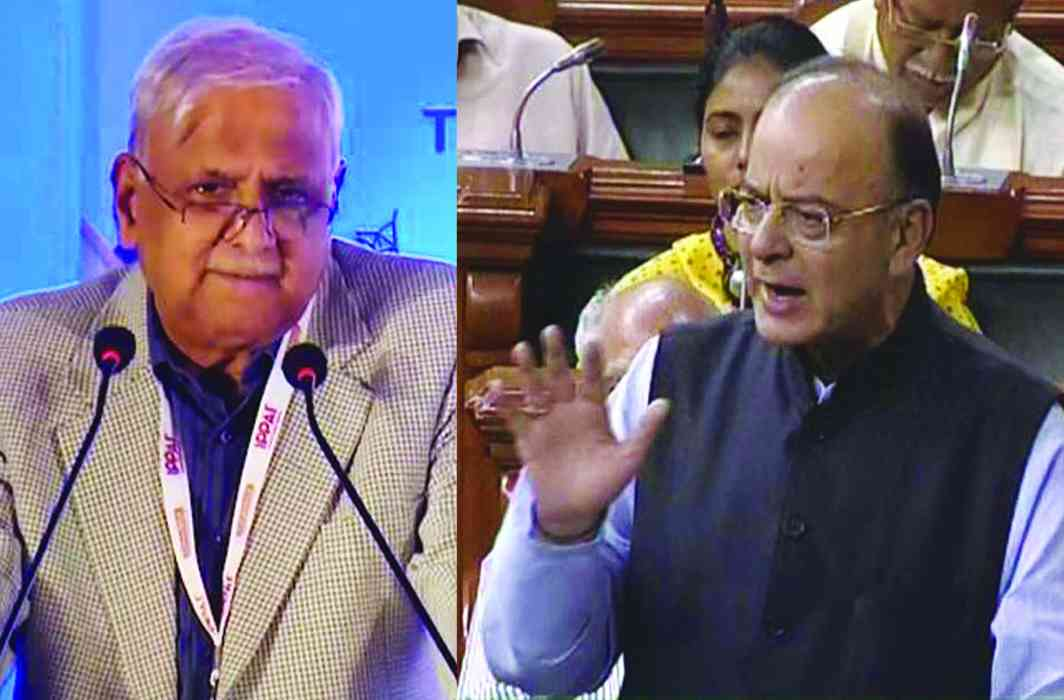(Left) Jagdeep Chhokar says Finance Minister Arun Jaitley's move to include funding of political parties in a Money Bill is illegal