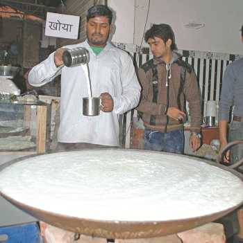A local shop in Delhi selling milk-made products. Photo: UNI