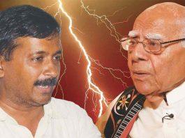 Ram Jethmalani and Arvind Kejriwal