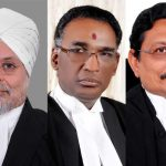 Chief Justice JS Khehar, Justice J Chelameswar and Justice SA Bobde. Photo: JS Studio