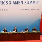 Brazil's President Michel Temer, Russian President Vladimir Putin, Chinese President Xi Jinping, South African President Jacob Zuma and Indian Prime Minister Narendra Modi at the ongoing BRICS Summit. Photo: PIB