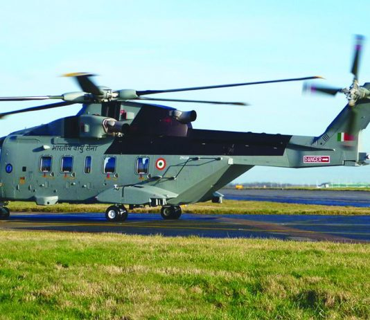 The VVIP chopper of the Indian Air Force.