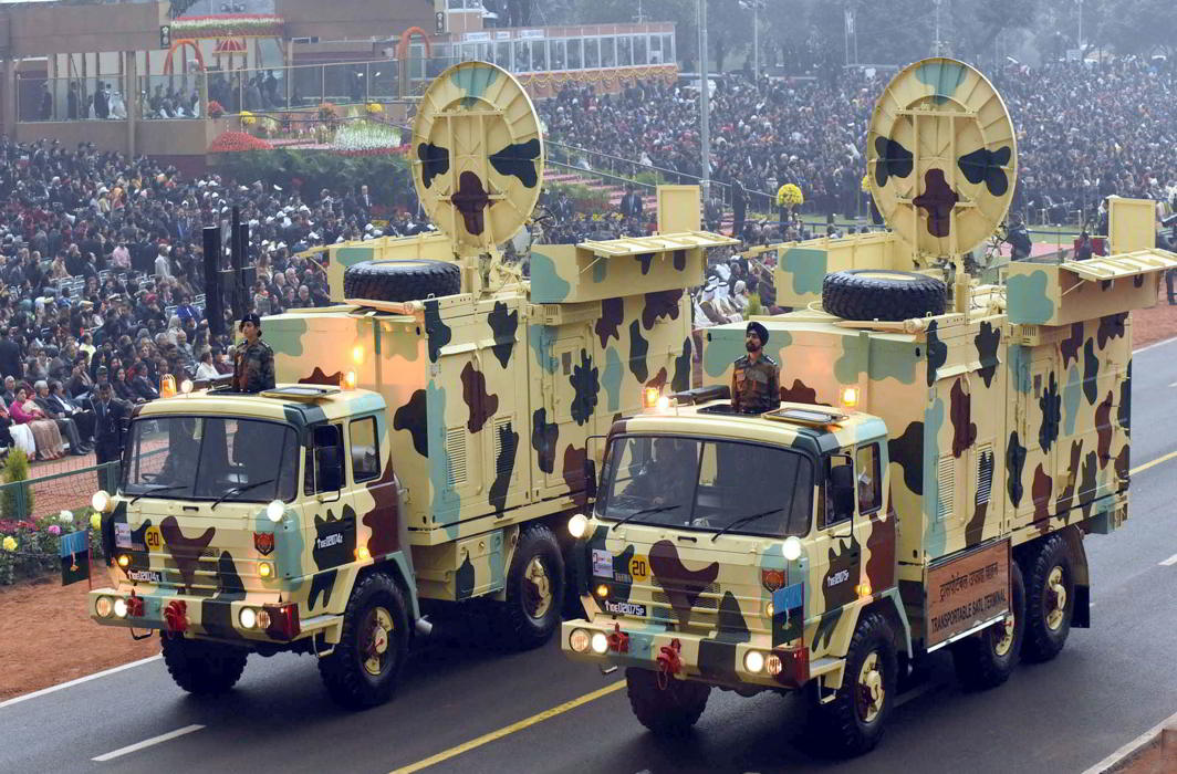 Service Corps tableau passes through Rajpath on Republic Day. Photo: UNI