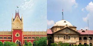 (Left) Calcutta High Court and Allahabad High Court