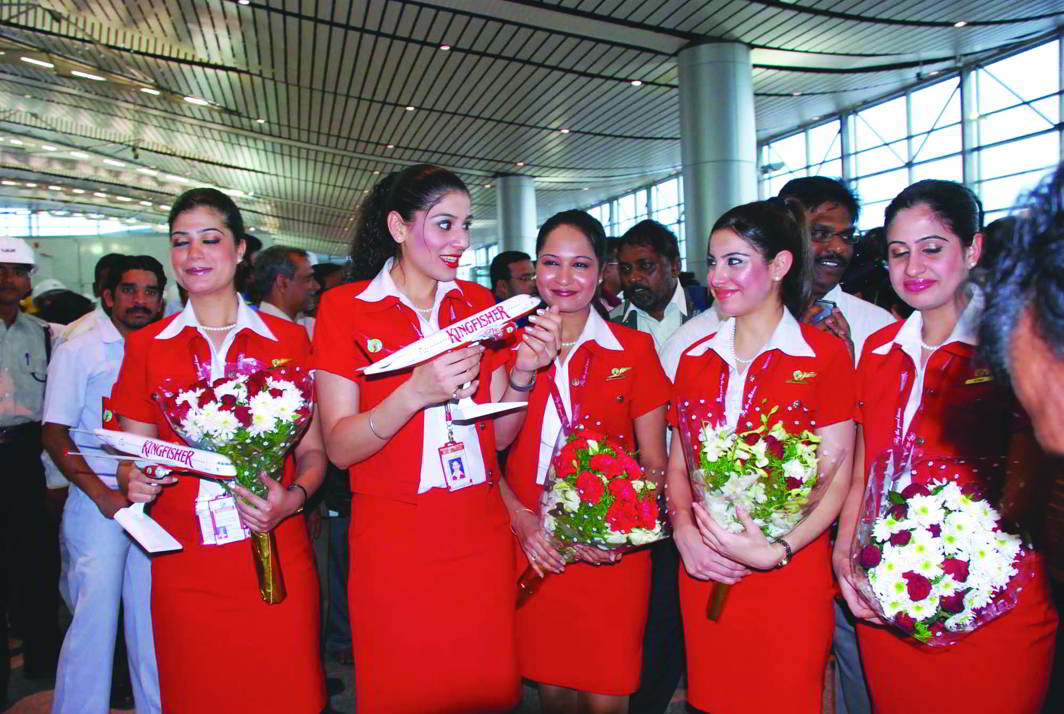The crew of the now defunct Kingfisher Airlines