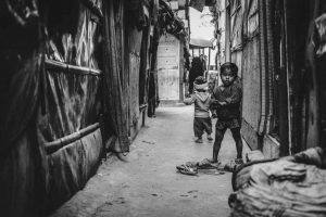 A child looks lost, caught amid poverty and political apathy. Photo: Javed Sultan