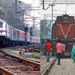 (L-R) Electric locomotive and diesel locomotive of Indian railways. Photos: Anil Shakya