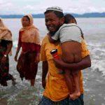Rohingya refugees crossing the Bangladesh-Myanmar border. Photo: UNI