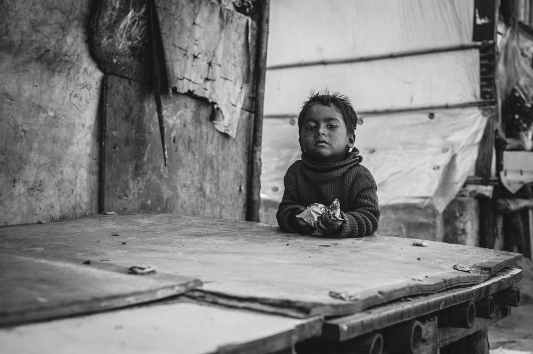 Innocent childhood days lost as uncertainly looms large. Photo: Javed Sultan