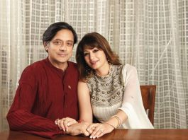 Shashi Tharoor with Sunanda Pushkar. Photo: buzzpickers.com