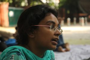 Mineshi Mishra, a student of BHU rues lack of security measures in BHU. Photo: Bhavana Gaur