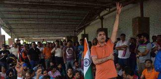 Homebuyers of Jaypee Infratech protesting in Noida