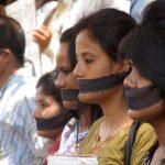 Journalists protesting in Guwahati. Photo: UNI