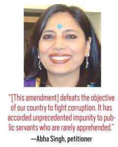 Abha Singh, Petitioner