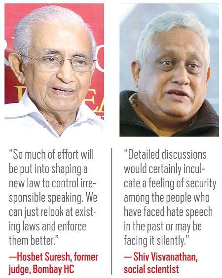 Hosbet Suresh, former judge(left) Shiv Visvanathan social scientist(right)