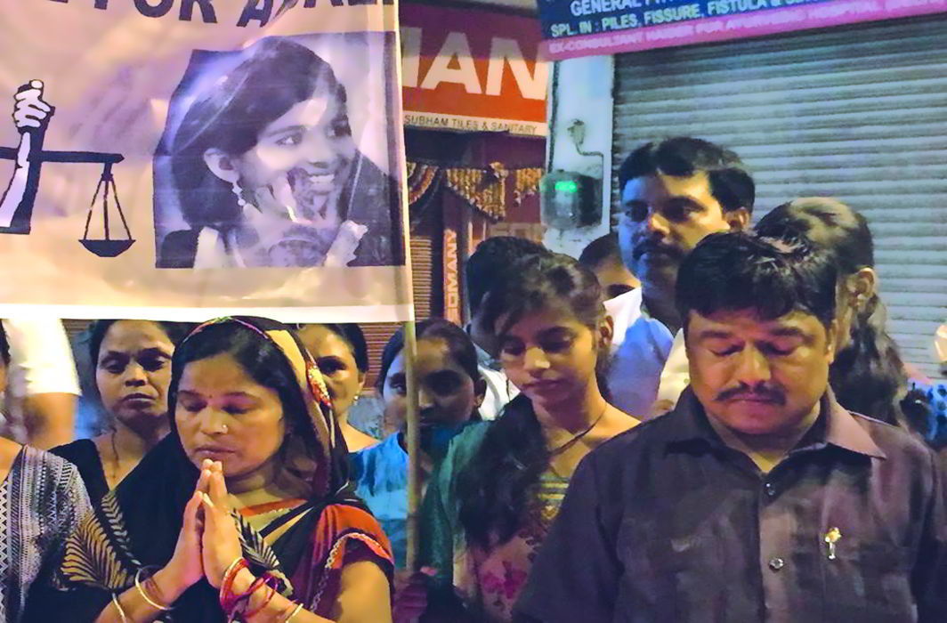 Shyam Sunder Kaushal (right) is running a relentless campaign to seek justice for his daughter, Anjali (inset). Photo: Facebook