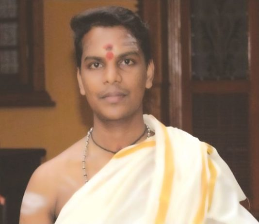 Yadu Krishna, Kerala's first Dalit priest, says his devotees have been cordial and accepting. Photo: thenewsminute.com