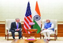 US Defence Secretary Jim Mattis with Prime Minister Narendra Modi in New Delhi. Photo: PIB