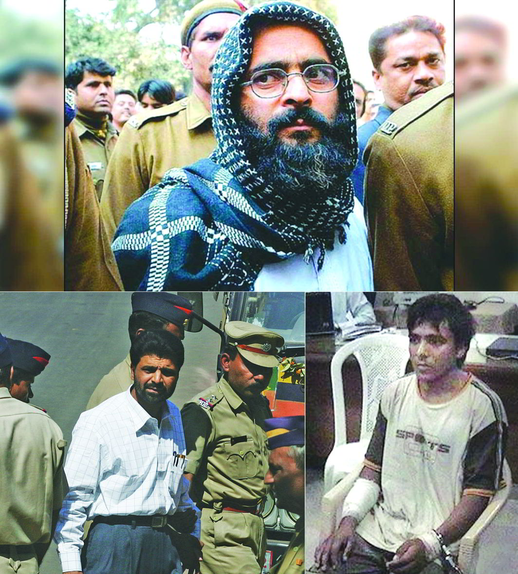 (Clockwise from far left) Afzal Guru, Ajmal Kasab and Yakub Memon have been hanged to death in the last few years for perpetrating terror in the country