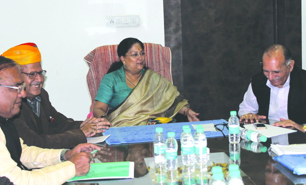 CM Vasundhara Raje has sent it to a Select Committee. Photo: UNI