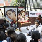 A demonstration for the slain Aarushi Talwar (file picture). Photo: Anil Shakya