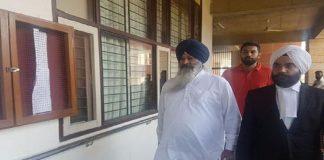 (Left) Former Punjab minister and senior Akali leader Sucha Singh Langah