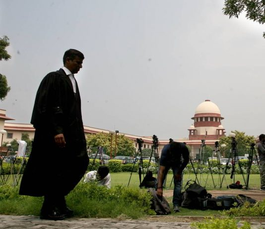 An advocate at Supreme Court. Photo: Anil Shakya