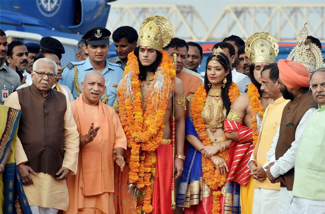 Yogi visits Ram Janmbhoomi in Ayodhya, hits out at Opposition
