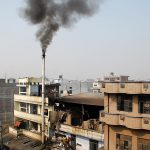 A smoke emanating from a factory. Photo: Anil Shakya