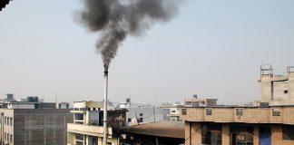 A smoke emanating from a factory. Photo: Anil Shakya