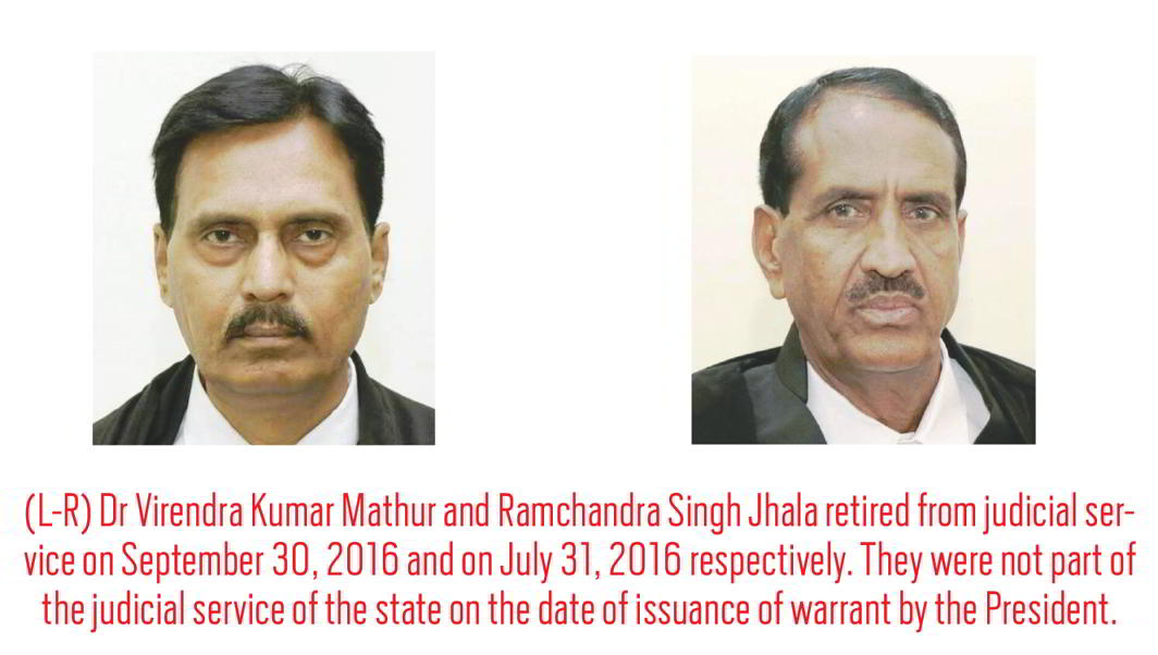 Judges under Notice