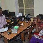 A girl getting her retina scanned as she enrolls for Aadhaar, at a camp in Mirzapur (file picture). Photo: UNI