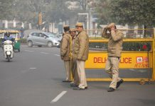 Delhi Police personnel. Photo: Anil Shakya