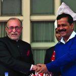 (Left) Lieutenant Governor Anil Baijal and Delhi CM Arvind Kejriwal. Photo: UNI